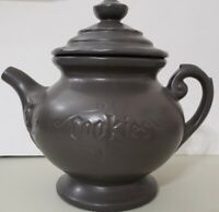 McCoy Vintage Teapot Cookie Jar - Dark Gray - Made in the USA - FREE SHIPPING!