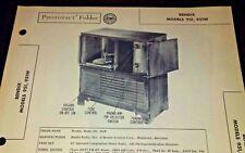 Bendix Models 951, 951W Photofact Folder