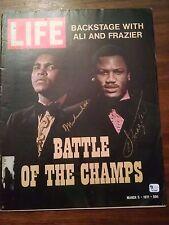 Muhammad Ali & Joe Frazier 1971 LIFE Magazine hand signed by both GAI COA