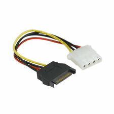 "7"" SATA to 5.25"" Molex Converter Cable Power Cord for HDD PC ATX Power Supply UL"