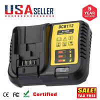 DCB112 12-20V Max Li-Ion Battery Charger New for Dewalt DCB115 DCB204 DCB205