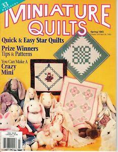 Miniature Quilts Magazine - Spring 1993  - VG