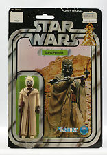 Vintage Star Wars Sandpeople Tusken Raider 12 back C MOC Near CASE FRESH