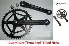 70NK Guarnitura singola Prowheel Fixed Nera 46T per bici 20-24-26 Pieghevole