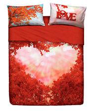 Completo Lenzuola / Copriletto Matrimoniale Love Everywhere Cuore Rosso Bassetti