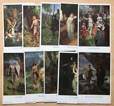 More details for 10 vintage richard wagner opera postcards - artist drawn - job lot bundle