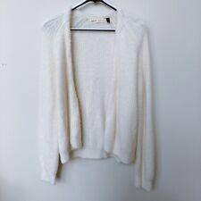 New! anthropologie Women Size large  White Winter Cozy Sweater Cardigan $128