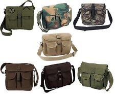 Military Ammo Bag Canvas 2 Pocket Carry Messenger Bags Shoulder Bag 2279 8277