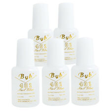 5PCS 10g Useful Nail Art BYB Strong Glue Kit with BRUSH for Tips Decoration Set