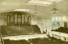 REAL PHOTO POSTCARD OF THE PUBLIC HALL INTERIOR, LEICESTER, LEICESTERSHIRE