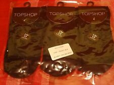 Top Shop Black Ankle Socks. 3 Pairs per pack.