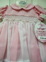 NWT Smocked & Embroidered Dress from Will'beth size 3 mo.