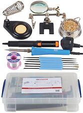 THE COMPLETE ESSENTIALS SOLDERING KIT  Mains Soldering Iron Duratool 40w + Box