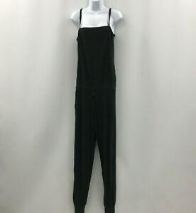 Emporio Armani Jumpsuit Size UK L Long Black Strappy Ruched Ladies Plain 300526