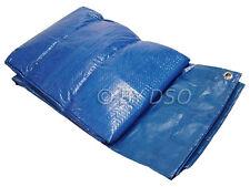 Tool-Tech Multi Purpose 12 x 10 Foot Blue Polyethylene Woven Tarpaulin