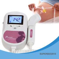 Fetal Doppler bebé latido voz El embarazo Monitor cardíaco Prenatal CONTEC LCD