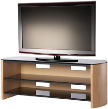 Alphason Finewoods 1350 3-Shelf Real Wood Veneer and Glass TV Stand FW1350-LO/B