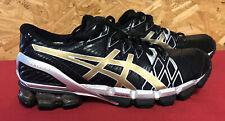 Men's ASICS Gel-Kinsei 5  Black Gold Silver Running Training SIZE 8.5 T3E4Y