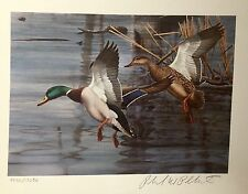 1983 NORTH CAROLINA 1st. of STATE WATERFOWL PRINT w/  MINT STAMP