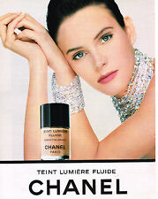 PUBLICITE ADVERTISING 084  1993  CHANEL  cosmétiques LUMIERE FLUIDE