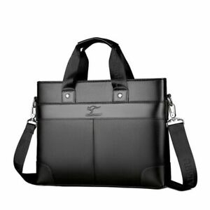 Leathered Men's Laptop Bags Business Office Storage Kit Messenger Accessory Kits