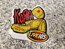 KORN Collectors Sticker - Sick and Twister Tour at Oakland Arena - March 3, 2000