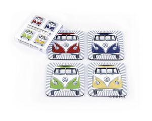VW Kombi split window 4-Piece Coaster Set - COLOURS