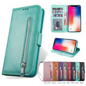 For iPhone XS MAX XR X 6 7 8 Leather Wallet Case Card Holder Flip Stand Cover