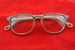 Vintage Eyeglass Frame Man Women Brown Wooden Glass Eyewear Full-Rim Clear Lens