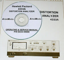 HP 4333A DISTORTION ANALYZER OPERATING & SERVICE MANUAL