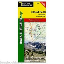 National Geographic Trails Illustrated WY Cloud Peak Wilderness Trail Map 720