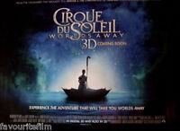Cinema Poster: CIRQUE DU SOLEIL WORLDS AWAY 2013 (Advance Quad) Erica Linz
