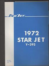 1972 SNO-JET SNOWMOBILE STAR JET Y-292 ENGINES  PARTS MANUAL