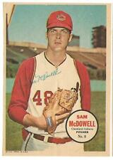 1967 Topps Pin-Up Poster Inserts  -- Sam McDowell #8   NM   See Description
