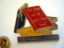 PINS LIVRE CLUB FRANCE LOISIRS LIBRAIRIE