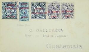 O) 1899 GUATEMALA, NATIONAL EMBLEM -TIMBRE-SCOTT A24 UN CENTAVO BLUE-NATONAL EMB