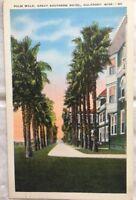 Palm Walk Great Southern Motel Gulfport Mississippi Vintage Postcard 072