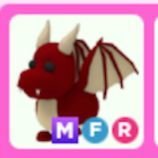 Roblox adopt me MFR Red Dragon MEGA NEON FLY RIDE