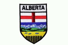 ALBERTA  CANADA Provincial Flag SHIELD Shape IRON-ON PATCH CREST BADGE