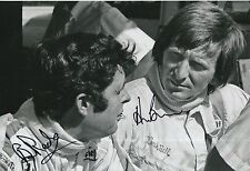 Brian Redman and Derek Bell Hand Signed 12x8 Photo F1.