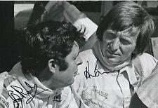 Brian Redman and Derek Bell Hand Signed 12x8 Photo F1.