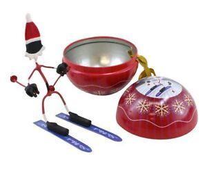 Hog Wild Christmas Benders Santa, Mrs Claus Elves Skiing Climbing Magnetic, Cake