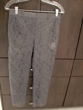 AUTHENTIC VALENTINO GRAY LACE TROUSERS PANTS  SZ 4