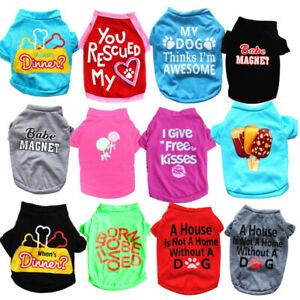 12PCS Lot Wholesale Dog Clothes T Shirt Pet Boy Girl Small Puppy Cat Vest Spring