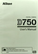 Nikon D750 English instruction manual (506) pages