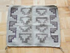 "VINTAGE NAVAJO INDIAN ""SQUARE""  4 CORNERS RUG HANDSPUN WEAVING - UNIQ PATTERN"