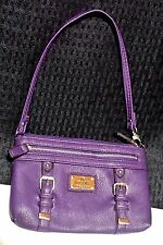 Nicole Miller Abby Wristlet - Purple - Silver Buckles - Free Shipping