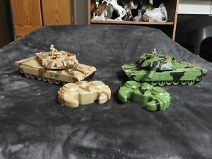 Interactive Toys Concepts Tank R/C Remote Control Battling Tanks Work Green