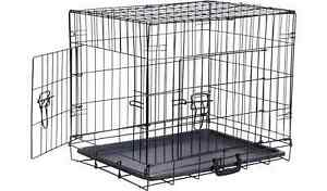 DOG CAGE DOUBLE DOOR XL PET ENCLOSURE EXTRA LARGE DOGS CATS FOLDABLE PORTABLE