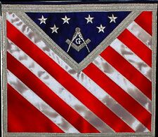 Blue Lodge Patriotic Masonic Freemason U.S. Flag Apron 01
